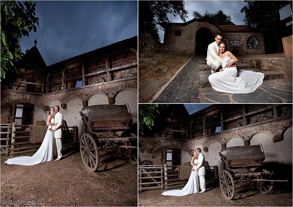Hochzeitsfotos Hanau: Schloss Philippsruhe und auf der Ronneburg (19)