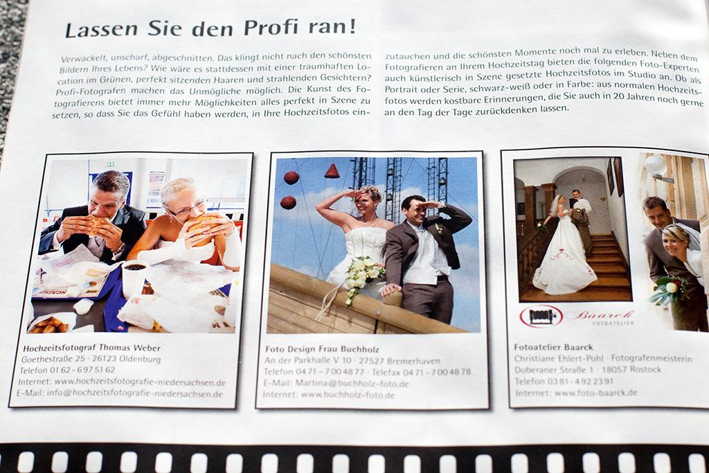 Hochzeitsfotograf Oldenburg: Empfehlung vom Braut-Magazin als Profi für Hochzeitsfotos (4)