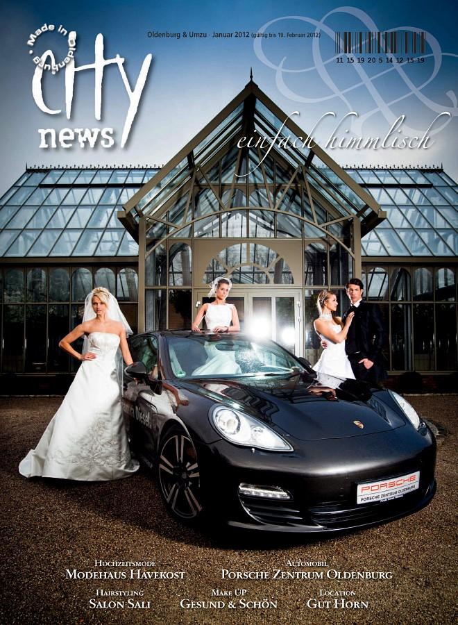 Hochzeitsfotograf Oldenburg: Cover-Shooting und Fotostrecke für die City News Oldenburg (1)