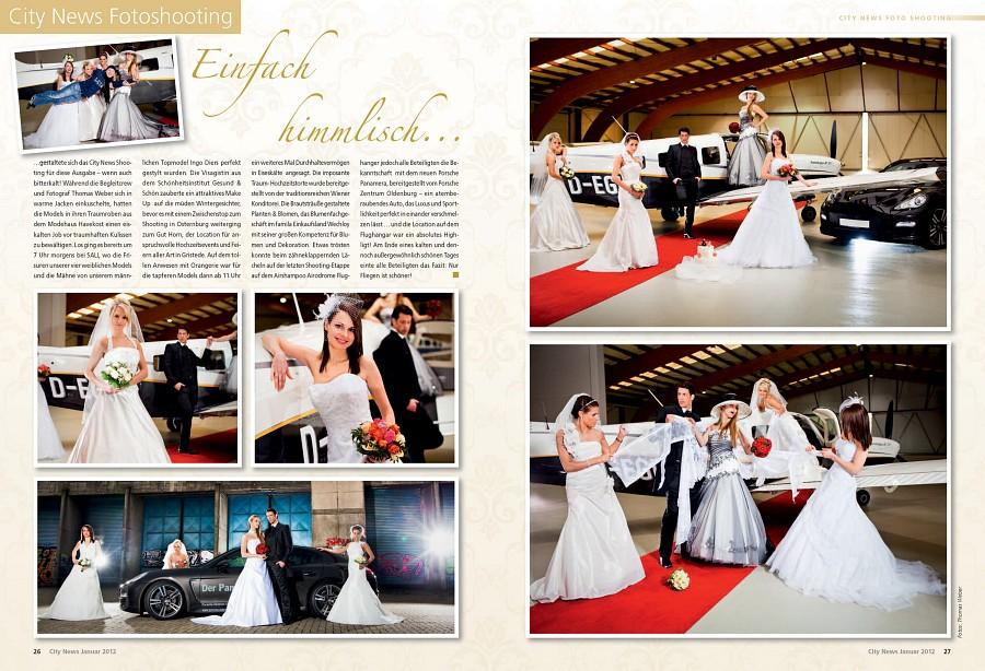 Hochzeitsfotograf Oldenburg: Cover-Shooting und Fotostrecke für die City News Oldenburg (2)