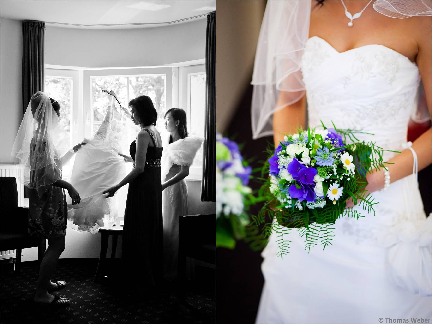 Hochzeitsfotograf Bremen: Deutsch-Chinesische Hochzeit in Worpswede, Grasberg und Bremen (2)
