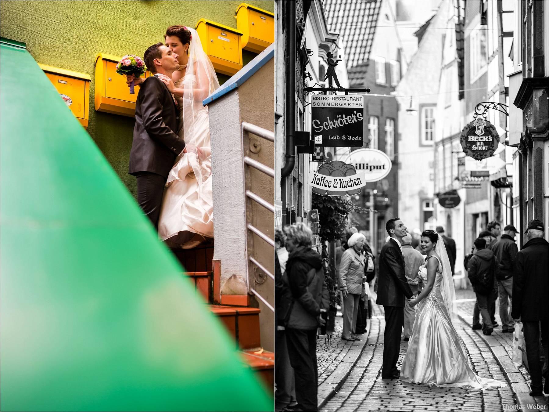 Hochzeitsfotograf Bremen: Kirchliche Trauung in der Propsteikirche St. Johann im Bremer Schnoor und Hochzeitsfeier bei Rogge Dünsen (22)