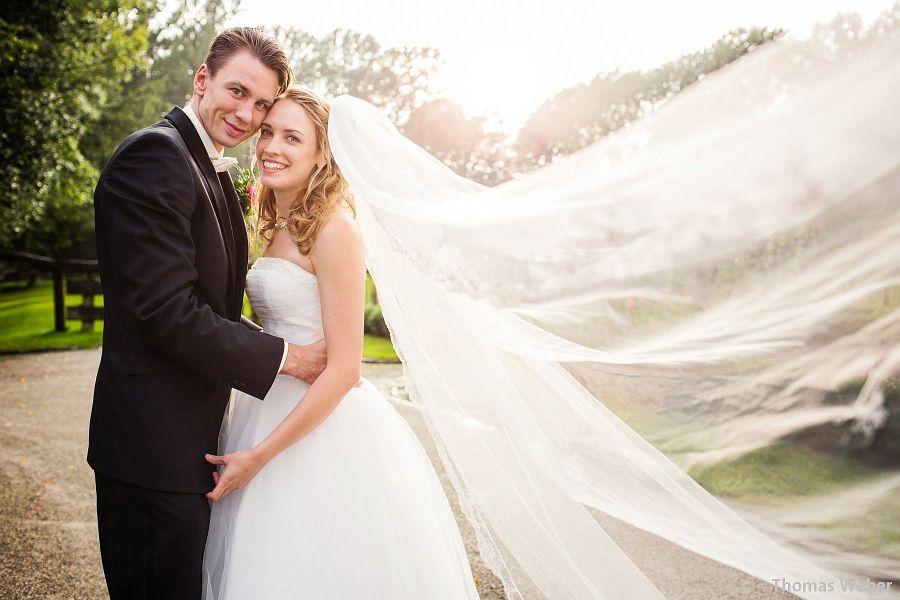 Hochzeitsfotograf Oldenburg: Hochzeitsfoto von Regina und Konrad Wysocki (EWE Baskets Oldenburg) auf Gut Horn (Gristede)