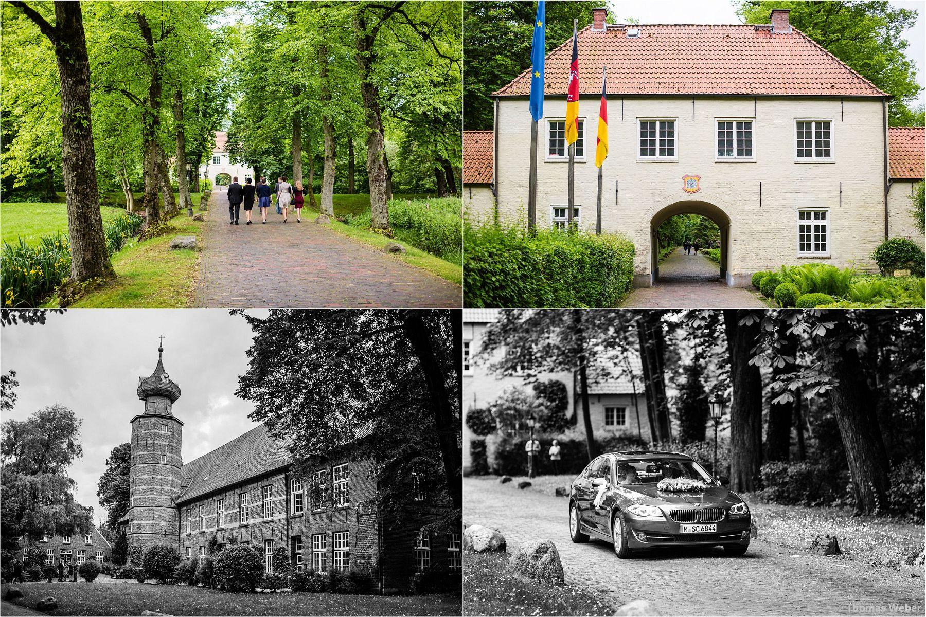 Hochzeitsfotograf Papenburg: Standesamtliche Trauung auf der Burg Kniphausen und Feier im Le Patron am Meer (1)