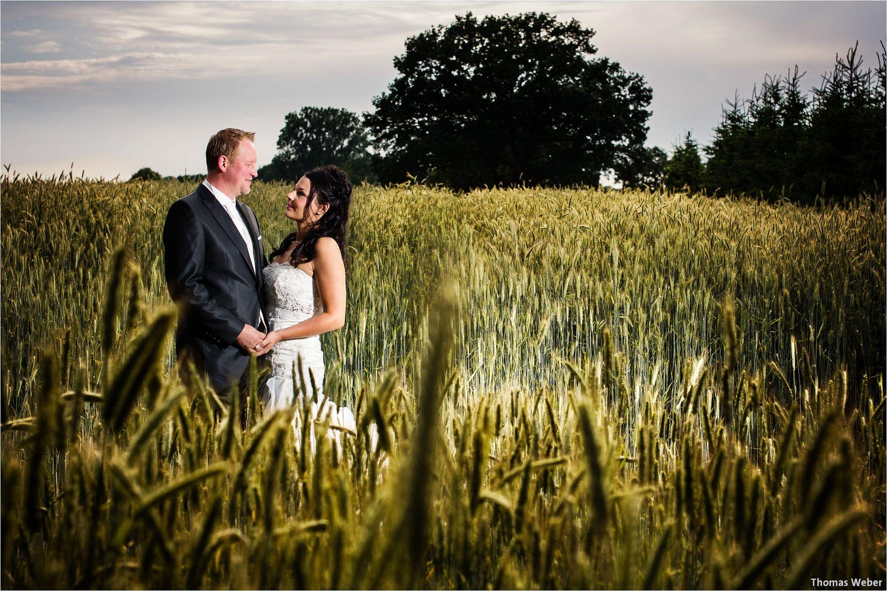 Hochzeitsfotograf Oldenburg: Hochzeitsportraits bei einem After Wedding Shooting am Nordsee-Strand von Dangast/Varel bei Sonnenuntergang (1)