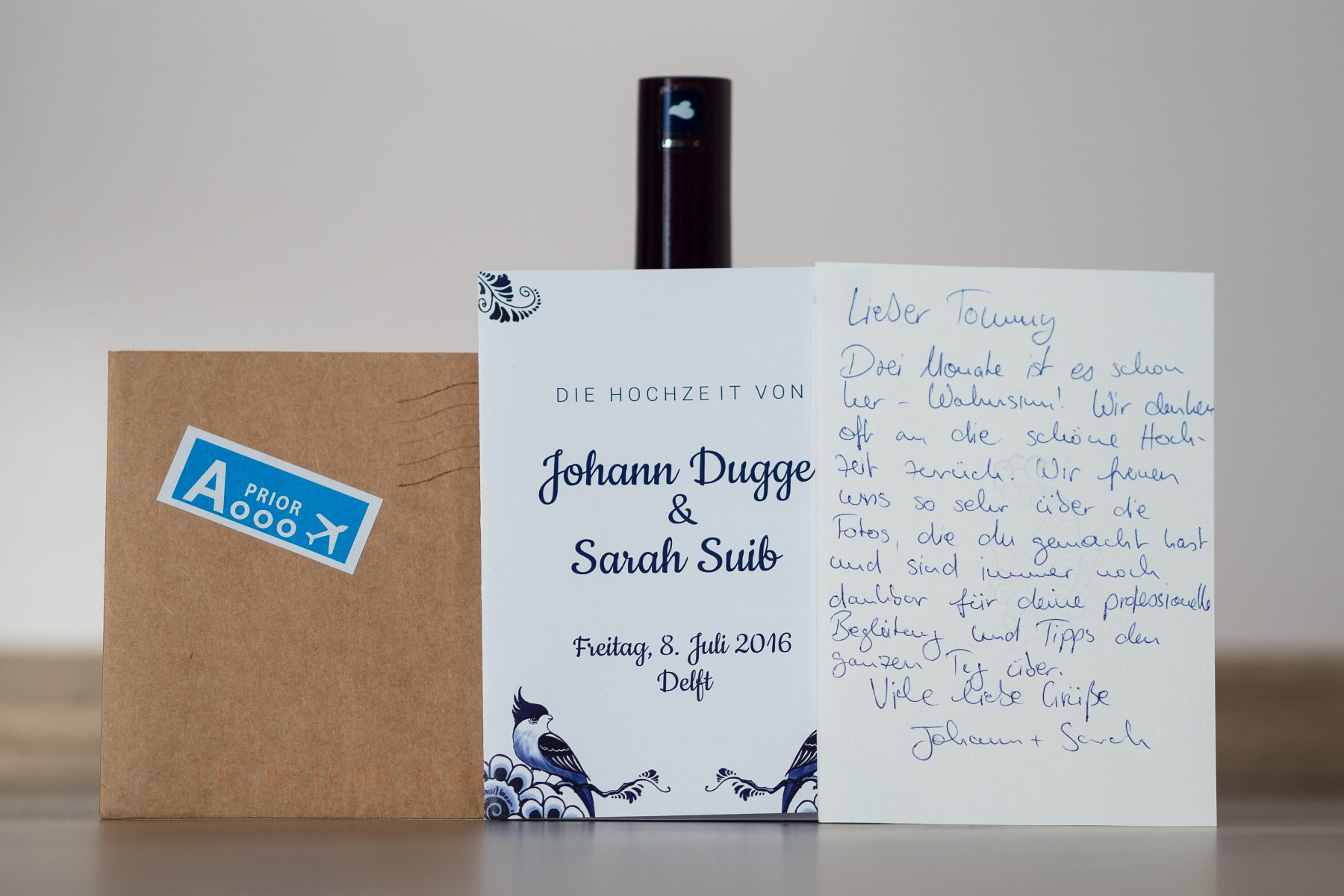 Danksagung von Sarah & Johann