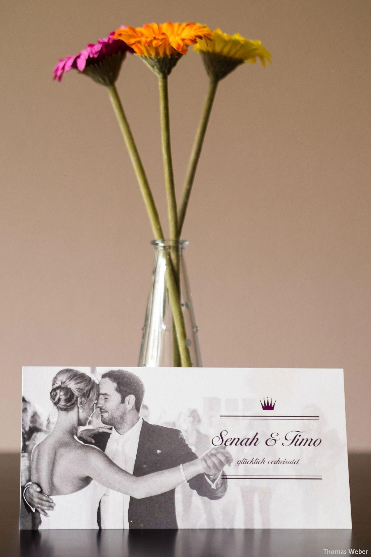 Hochzeitsfotograf Thomas Weber aus Oldenburg: Einladungskarten und Danksagungskarten für die Hochzeit von CHILIPFEFFERdesign Oldenburg