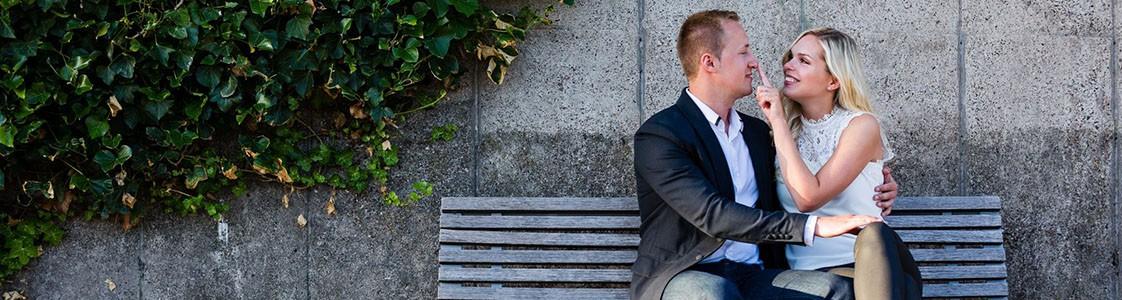 Engagement-Shooting in Bremen für die Einladungskarten der Hochzeit