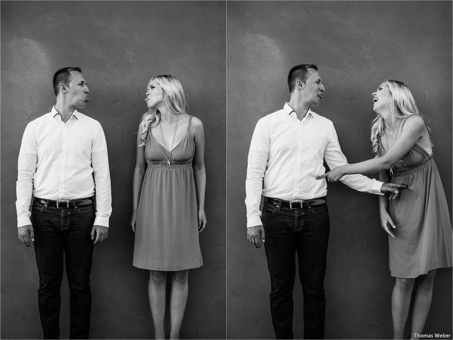 Hochzeitsfotograf Thomas Weber aus Oldenburg: Engagement-Fotos und Paarfotos eines angehenden Hochzeitspaares