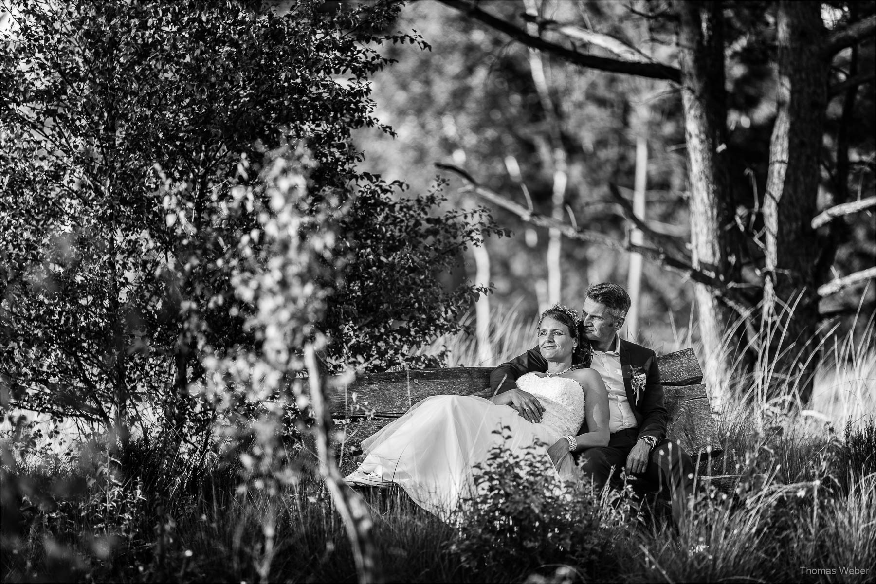After Wedding Shooting in einer Moorlandschaft, Hochzeitsfotograf Thomas Weber aus Oldenburg