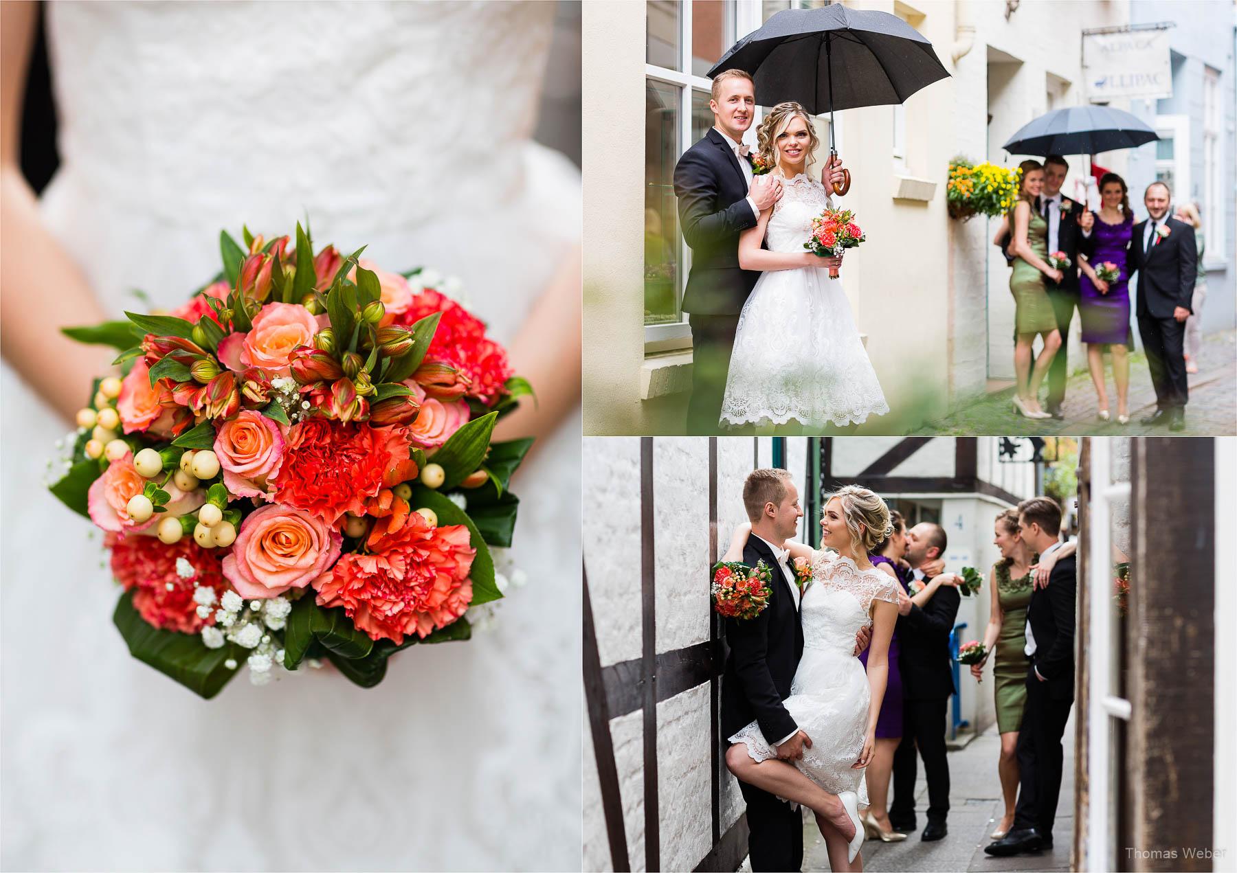 Russische Hochzeit in Bremen, Standesamt im Rathaus Bremen, Hochzeitsfotograf Bremen