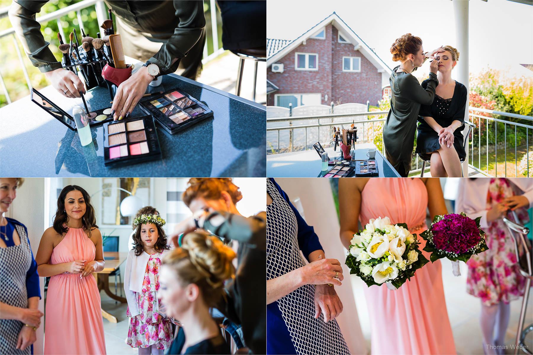 Ankleide vor der Hochzeit in Cloppenburg, Hochzeitsfotograf Oldenburg, Thomas Weber