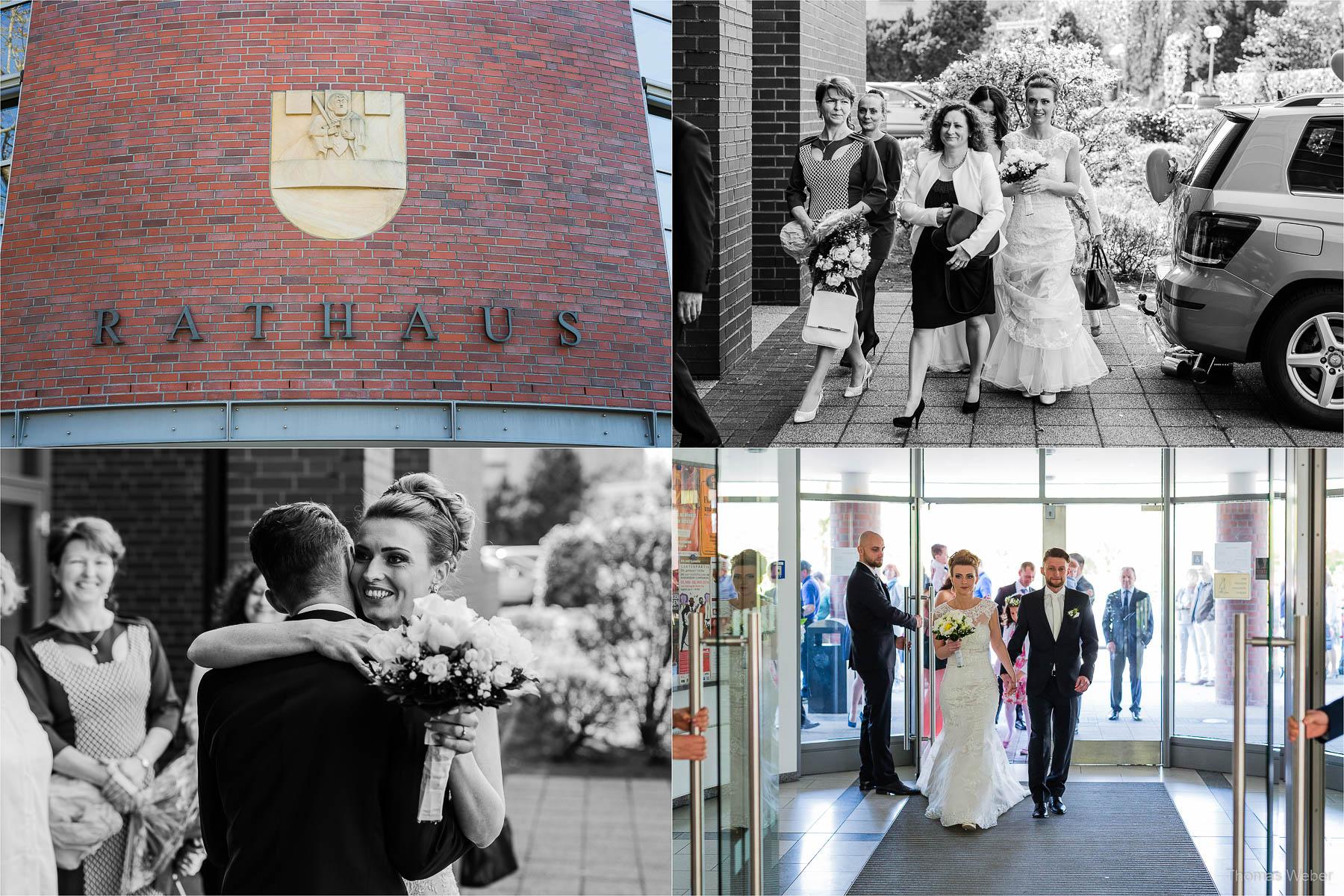 Trauung im Standesamt von Cloppenburg, Hochzeitsfotograf Oldenburg, Thomas Weber