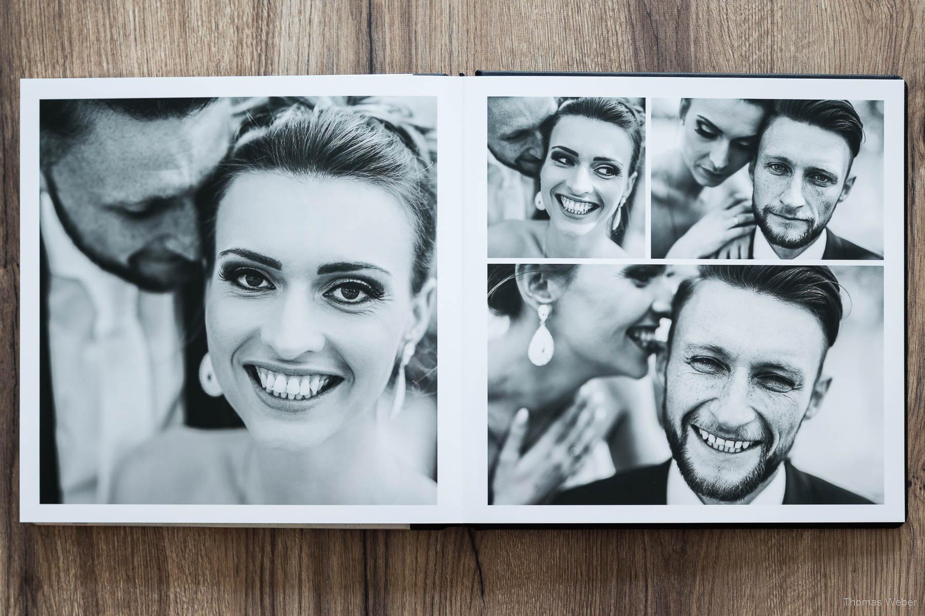 Handgefertigtes Hochzeitsalbum / Hochzeitsbuch, Hochzeitsfotograf Oldenburg, Thomas Weber