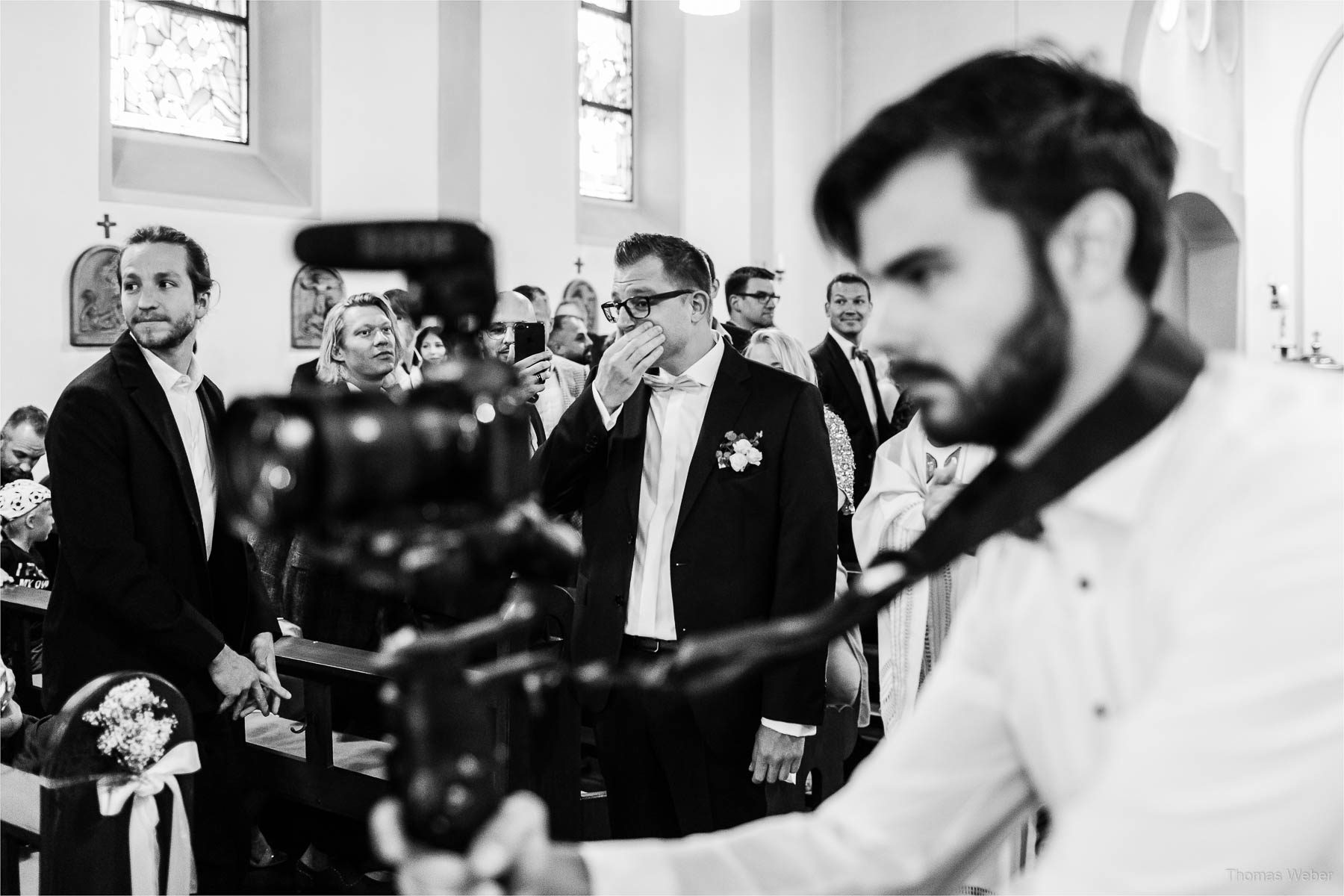 Kirchliche Hochzeit in Rastede und Hochzeitsfeier in der Scheune St. Georg Rastede, Hochzeitsfotograf Thomas Weber aus Oldenburg