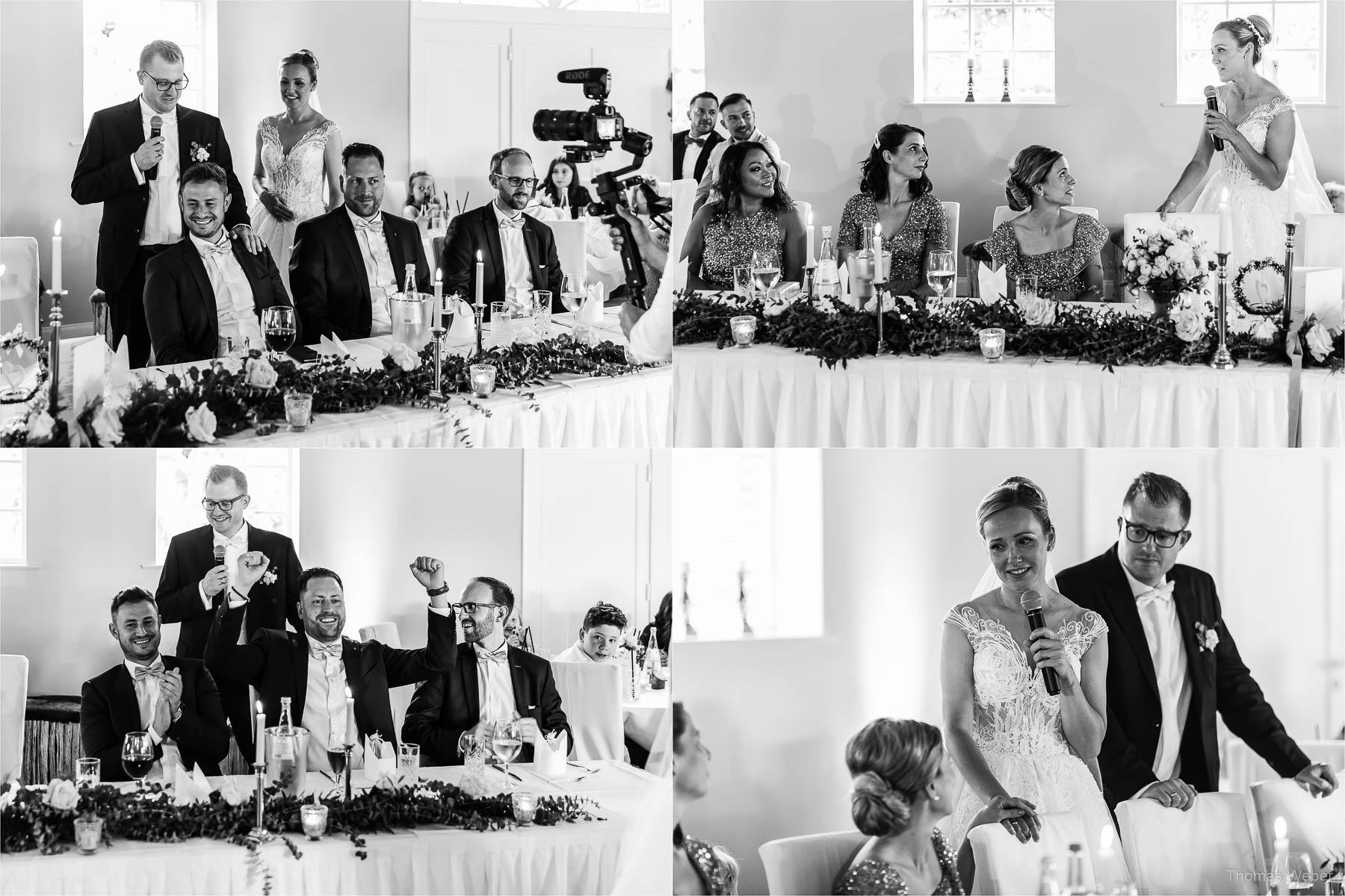 Verschiedene Reden auf der Hochzeitsfeier, Kirchliche Hochzeit in Rastede und Hochzeitsfeier in der Scheune St. Georg Rastede, Hochzeitsfotograf Thomas Weber aus Oldenburg