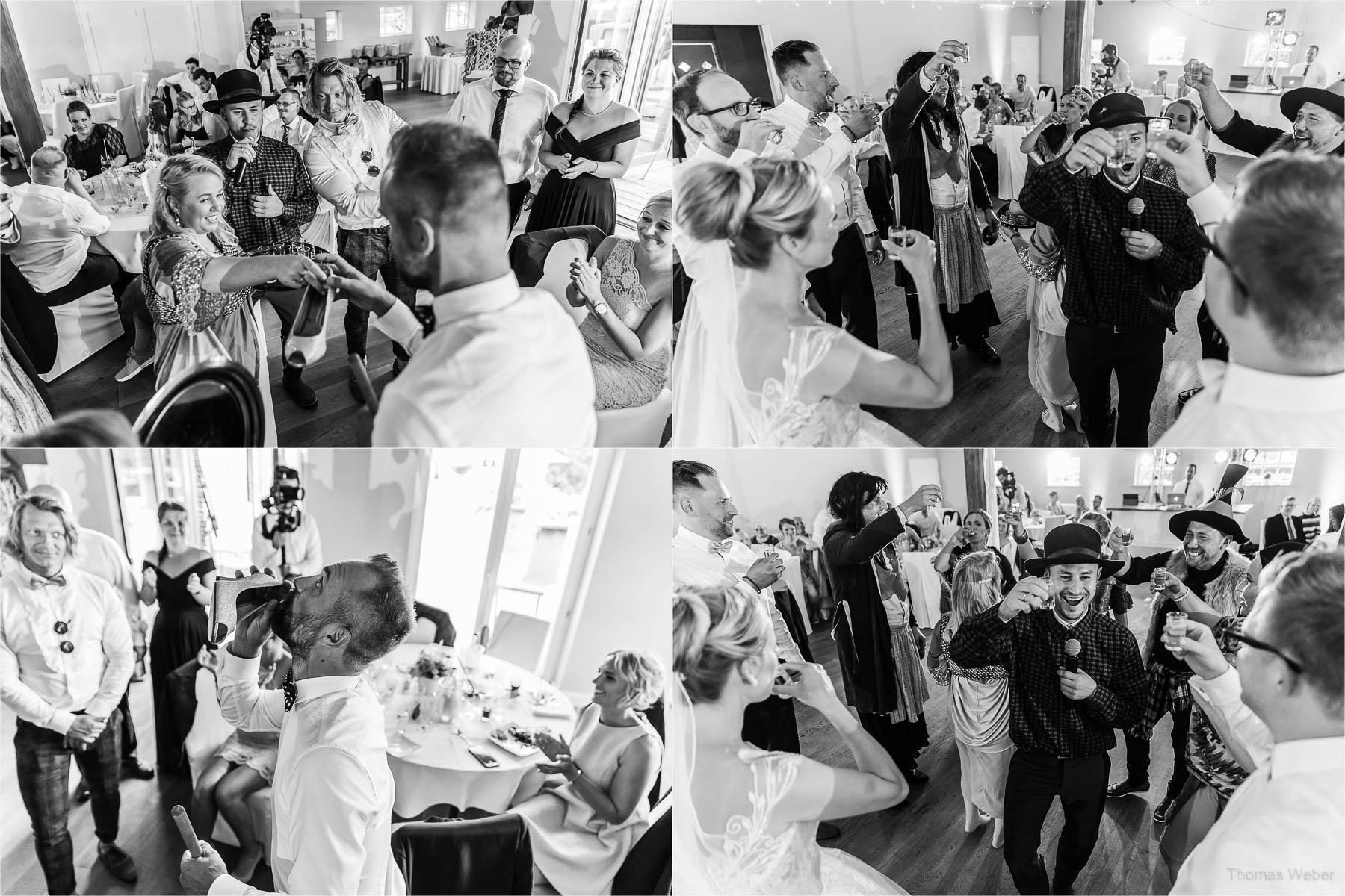 Russische Spiele auf der Hochzeitsfeier, Kirchliche Hochzeit in Rastede und Hochzeitsfeier in der Scheune St. Georg Rastede, Hochzeitsfotograf Thomas Weber aus Oldenburg